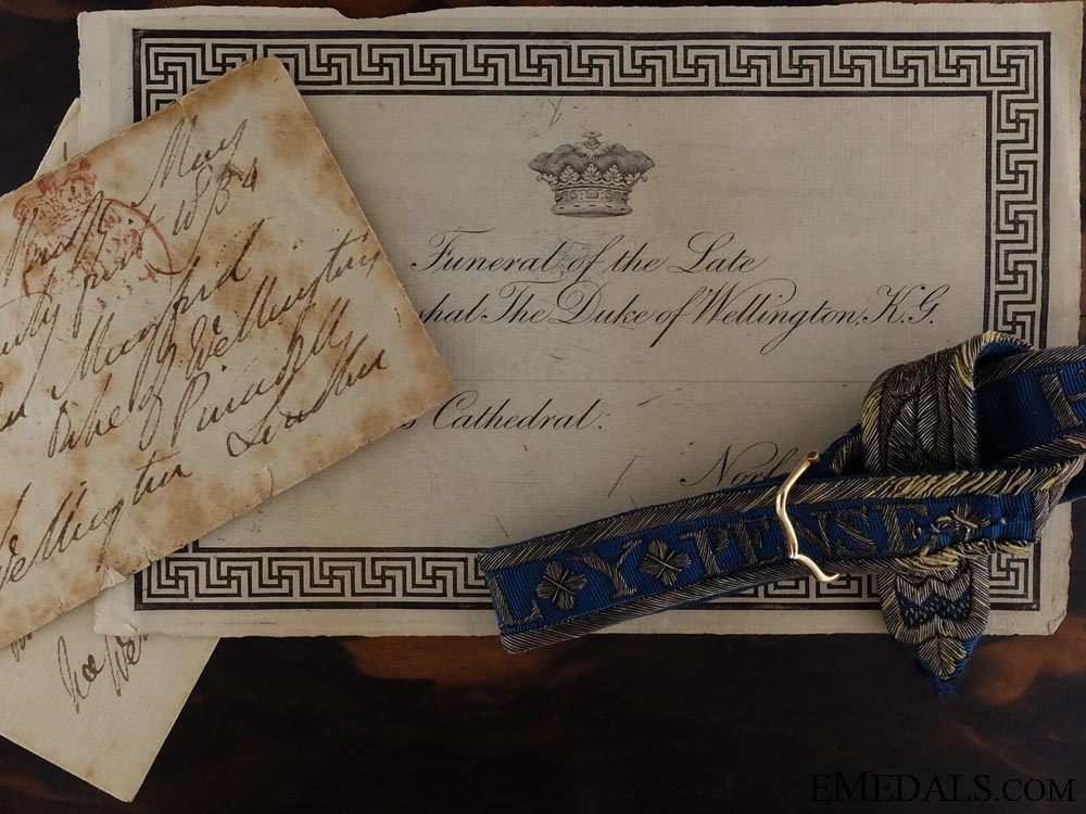 eMedals-A Historically Important K.G's Garter as worn by the 1st Duke of Wellington