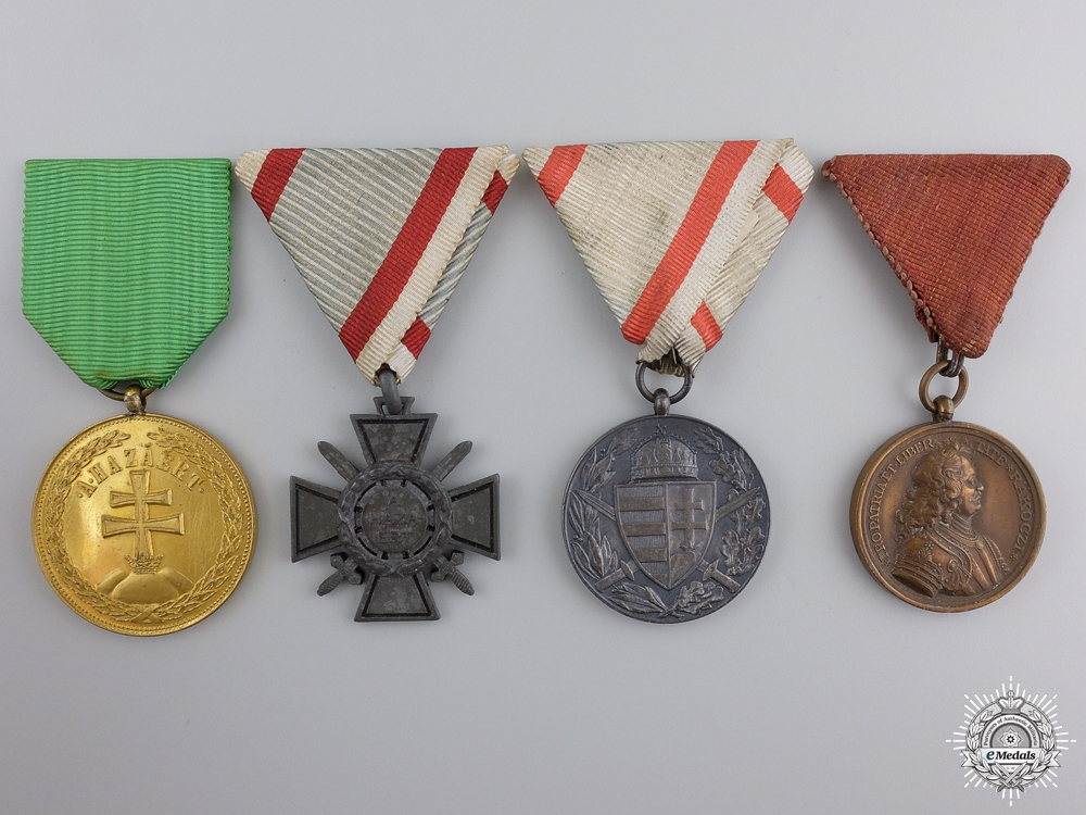 eMedals-A Hungarian Group of Four Medals