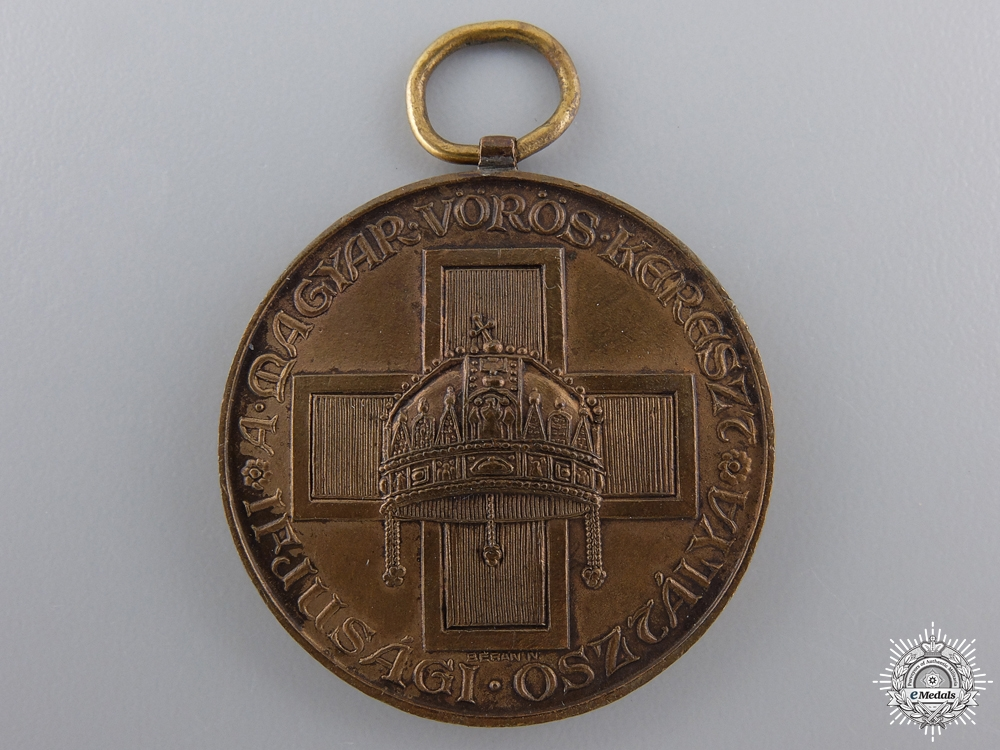 eMedals-A Hungarian Red Cross Medal for Youth; Bronze Grade
