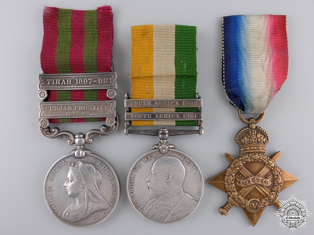 eMedals-A India, South Africa, & First War Medal Group to the Gordon Highlanders