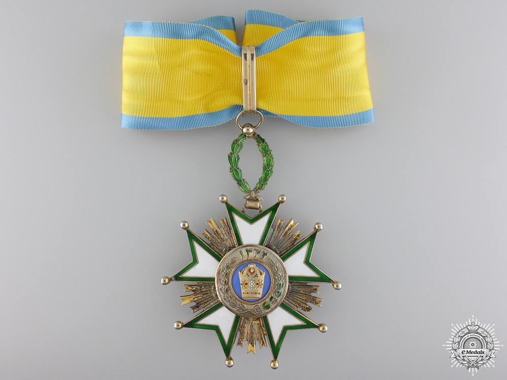 eMedals-A Iranian Order of the Crown; Commander's Neck Badge