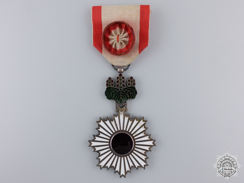 eMedals-A Japanese Order of the Rising Sun; Fourth Class