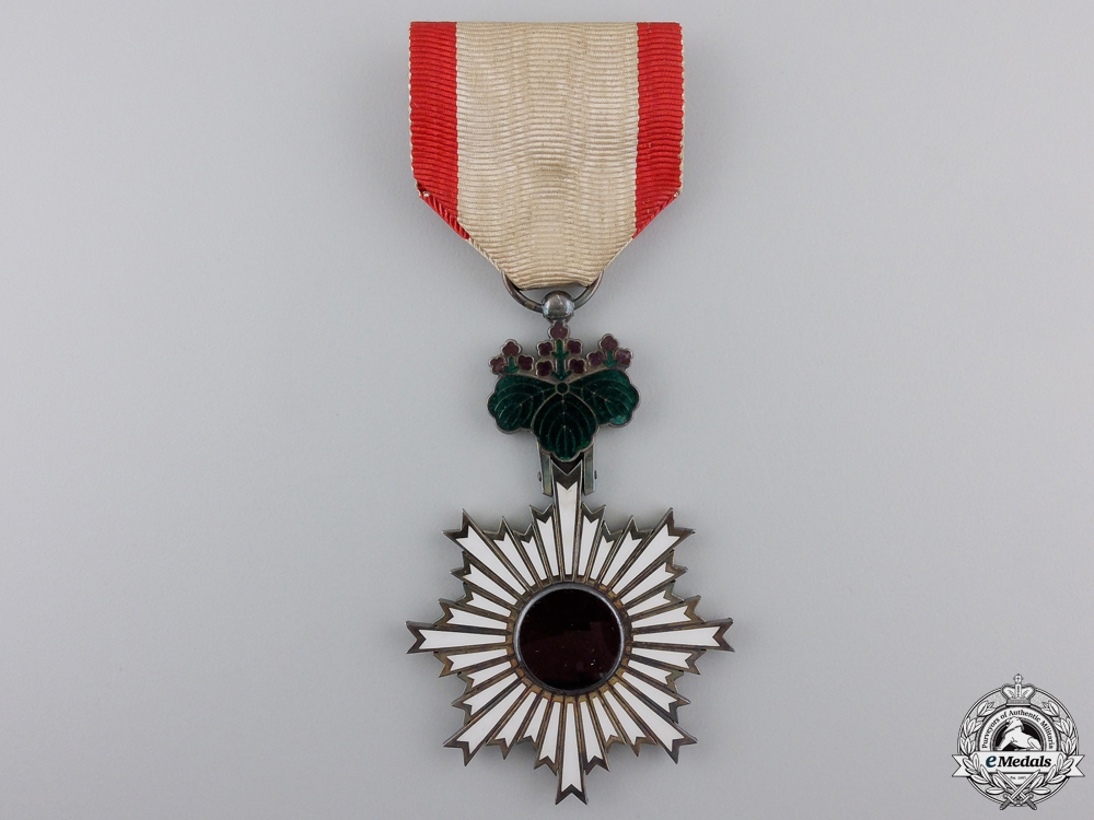 eMedals-A Japanese Order of the Rising Sun; 5th Class