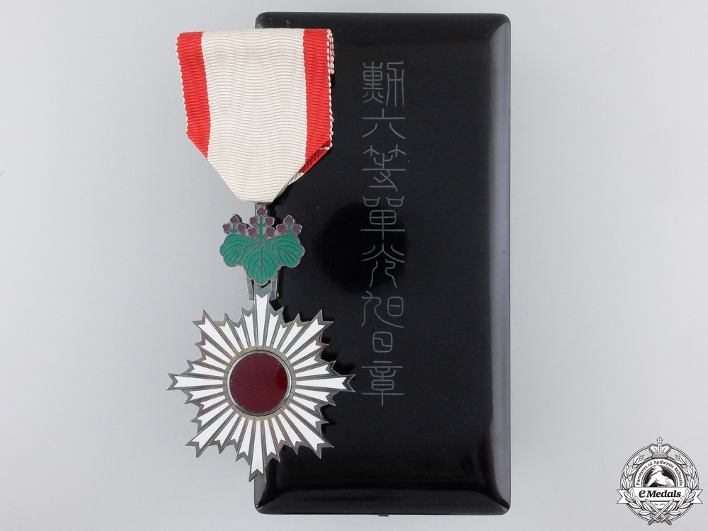 eMedals-A Japanese Order of the Rising Sun; 6th Class with Case