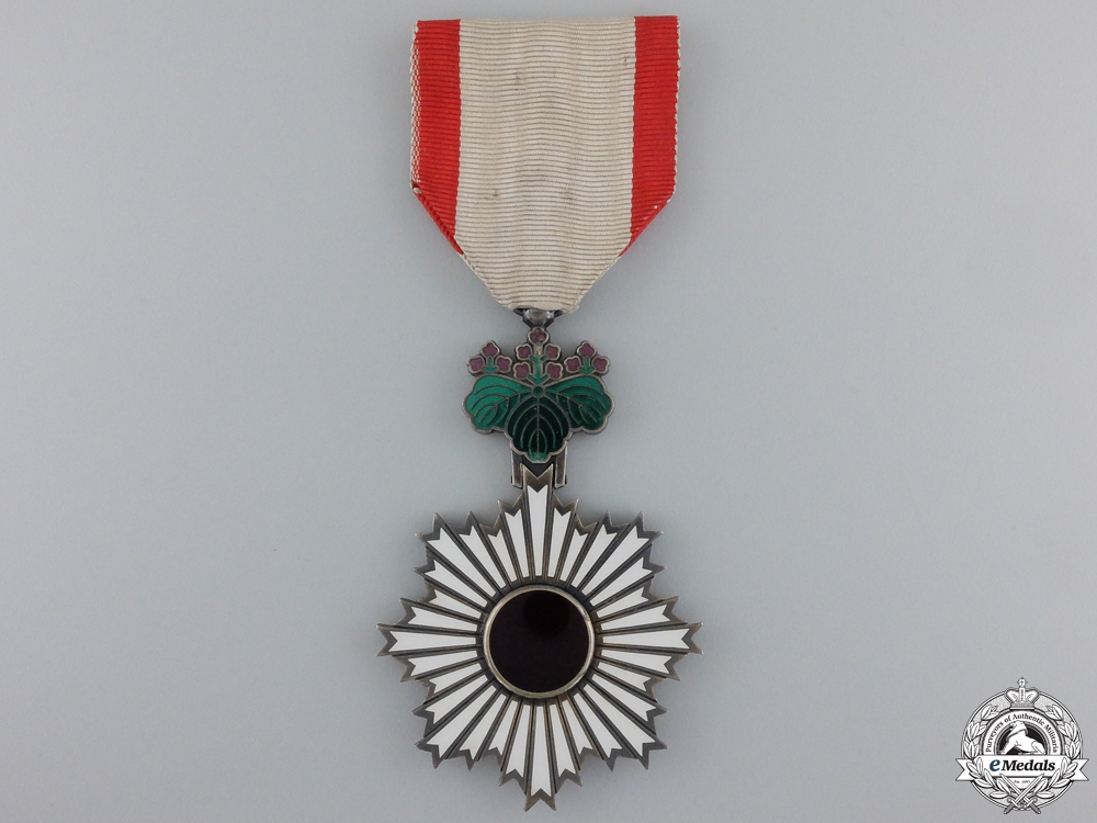 eMedals-A Japanese Order of the Rising Sun; Fifth Class