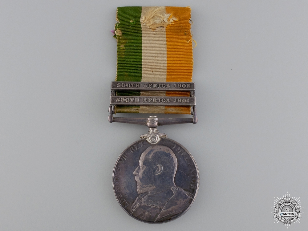 eMedals-United Kingdom. A King's South Africa Medal to the Queen's Regiment