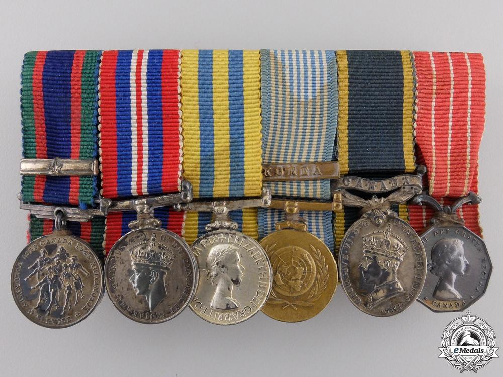 eMedals-A Korean Service Miniature Canadian Medal Bar