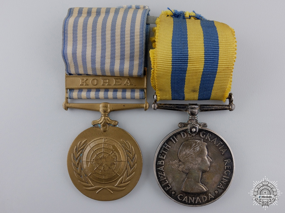 eMedals-A Korean War Medal Pair to the Royal Canadian Navy
