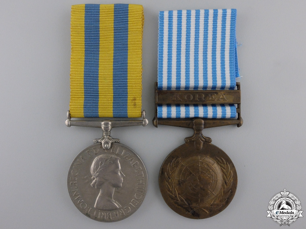 eMedals-A Korean War Pair to the Royal Army Medical Corps