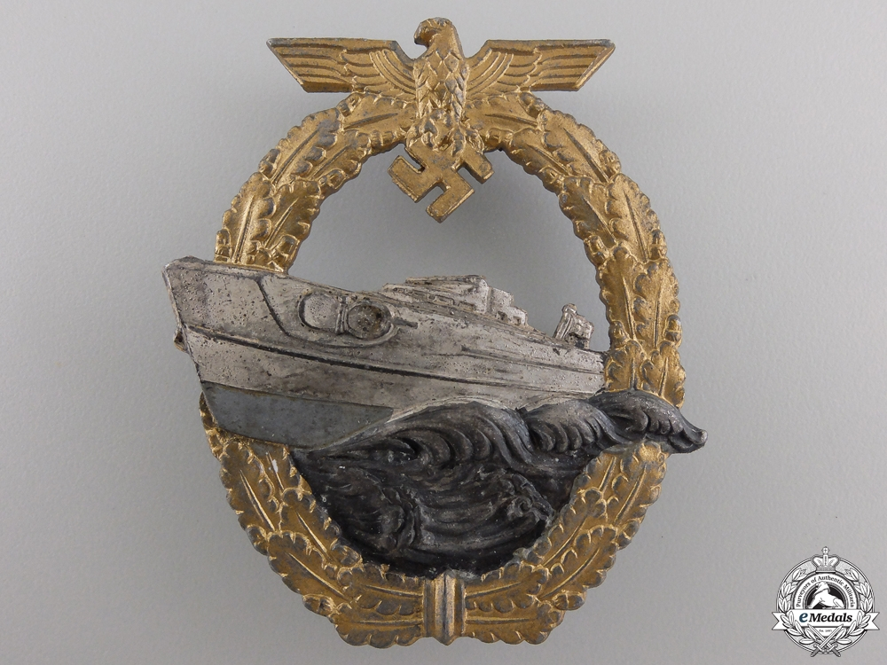 eMedals-A Kriegsmarine 2nd Pattern E-Boat Badge by Schwerin