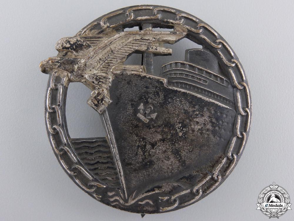 eMedals-A Kriegsmarine Blockade Runner Badge by Schwerin, Berlin