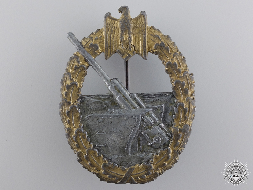 eMedals-A Kriegsmarine Coastal Artillery Badge
