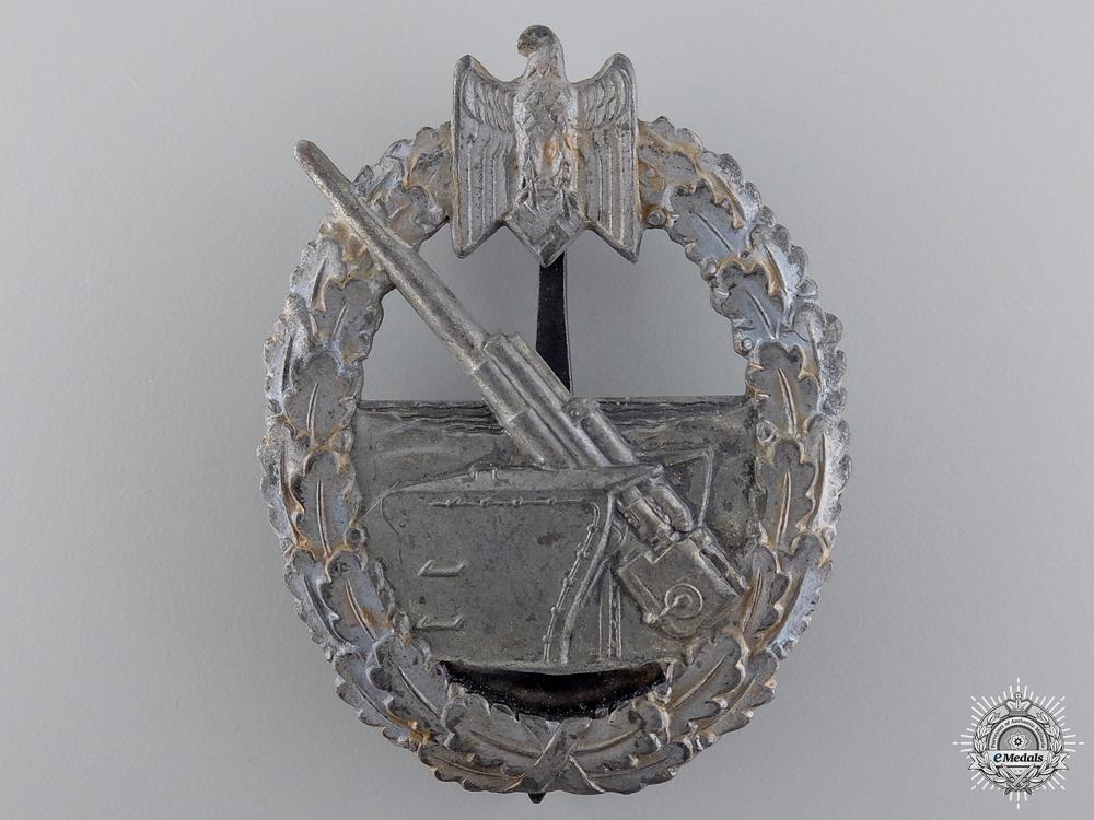 eMedals-A Kriegsmarine Coastal Artillery Badge by Juncker