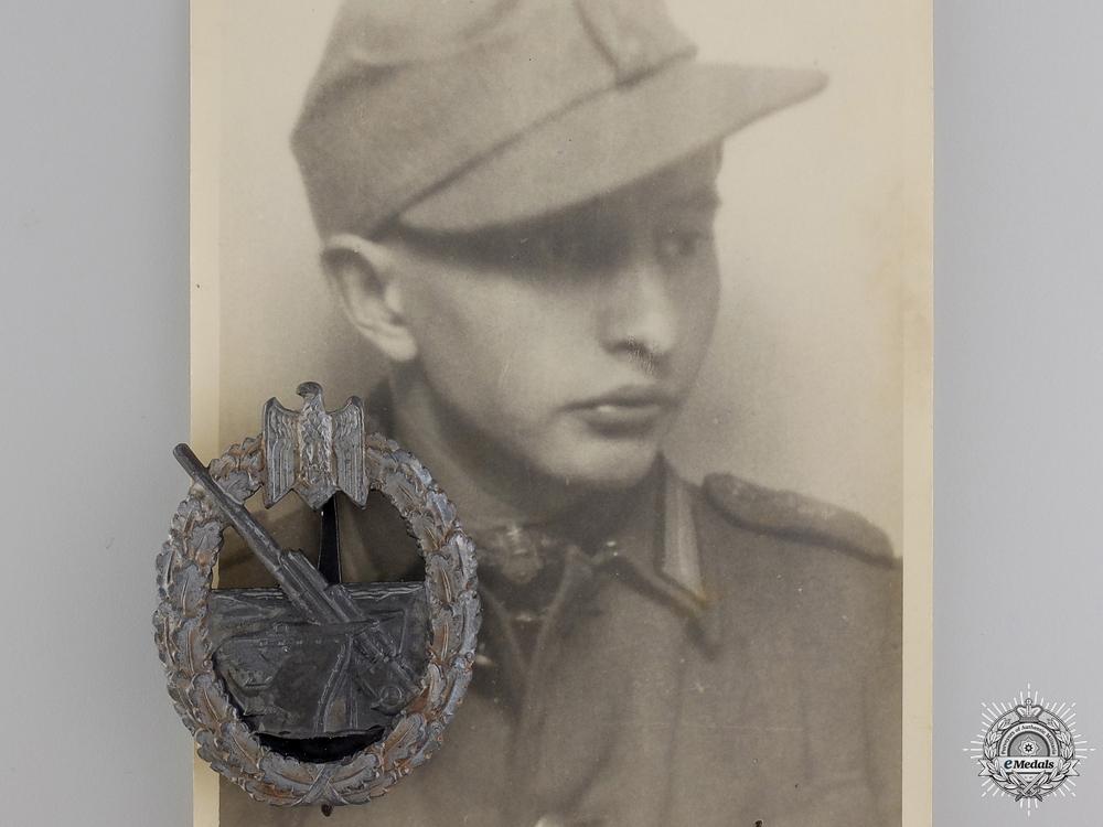 eMedals-A Kriegsmarine Coastal Artillery Badge with Recipient Photographs