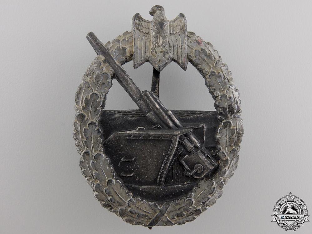 eMedals-A Kriegsmarine Coastal Artillery War Badge by Schwerin