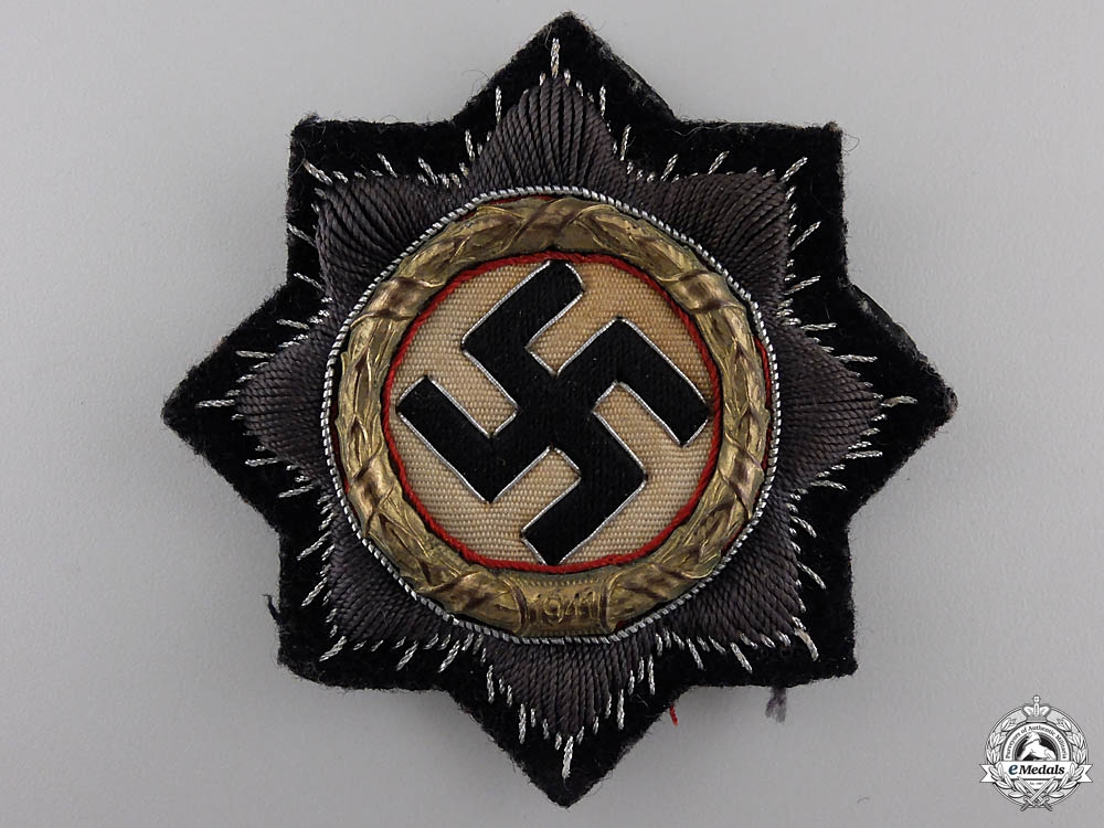 eMedals-A Kriegsmarine German Cross in Gold, Cloth Version