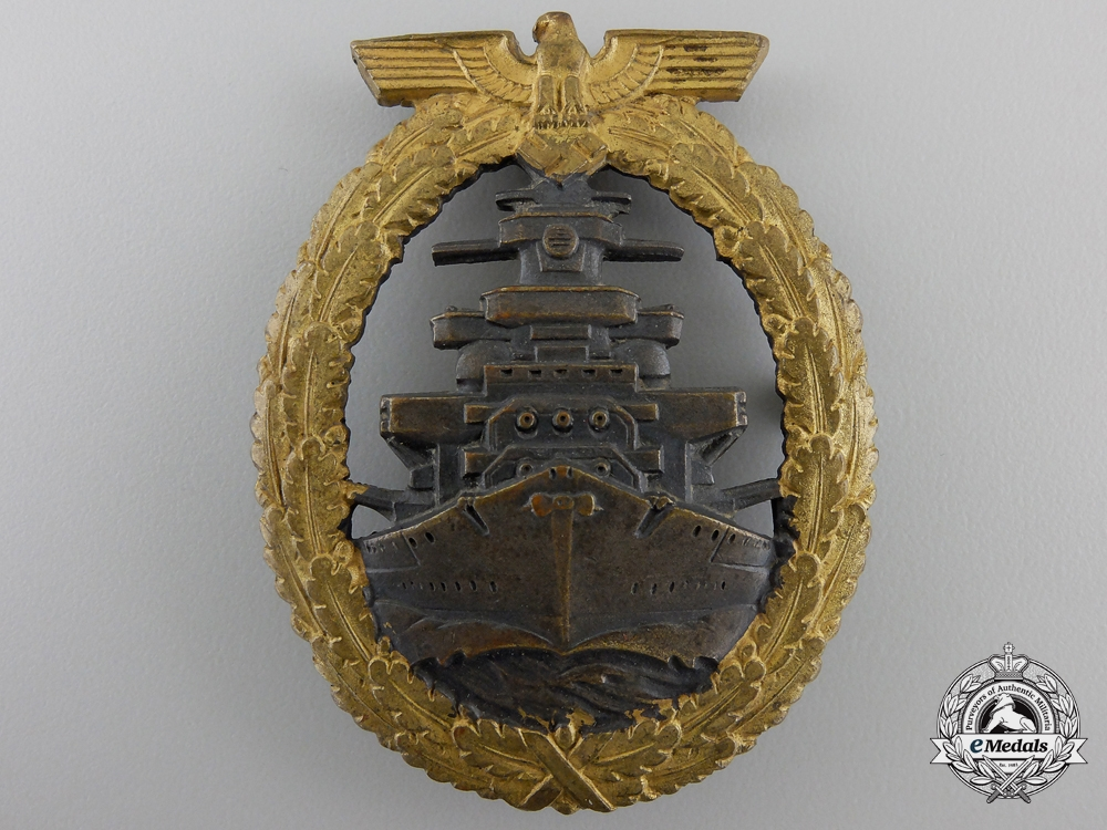eMedals-A Kriegsmarine High Seas Fleet Badge by Schwerin, Berlin