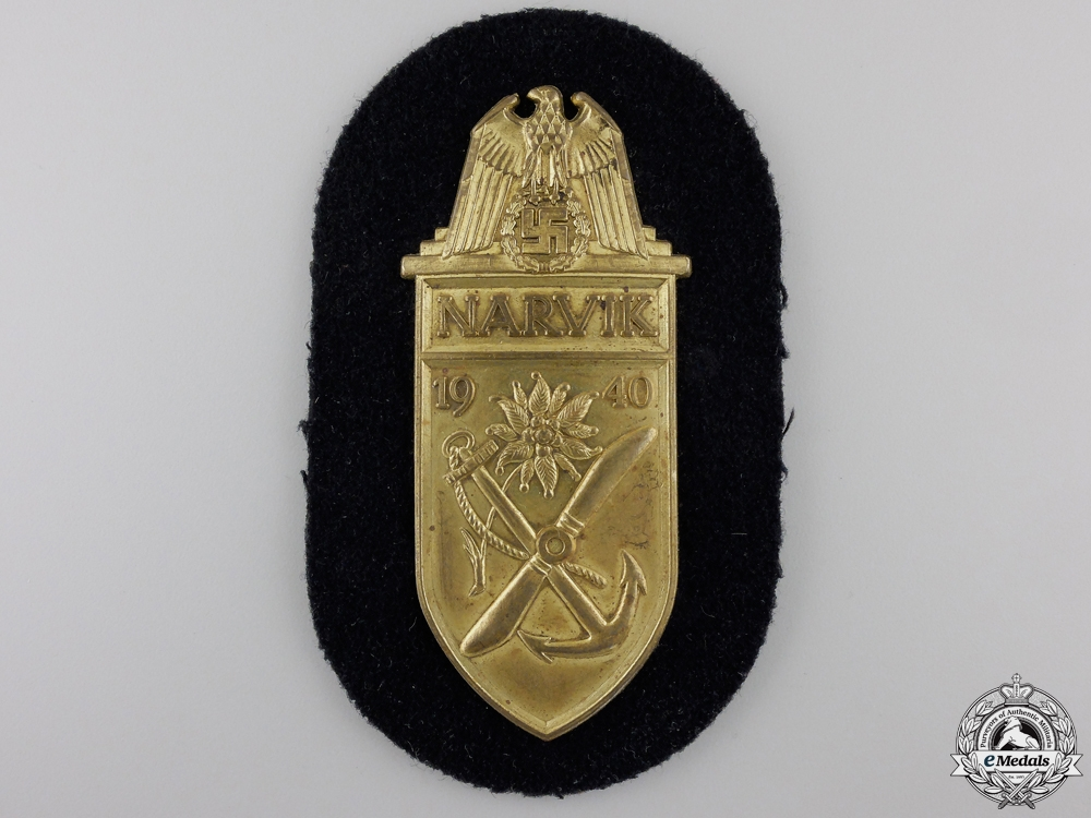 eMedals-A Kriegsmarine Narvik Campaign Shield