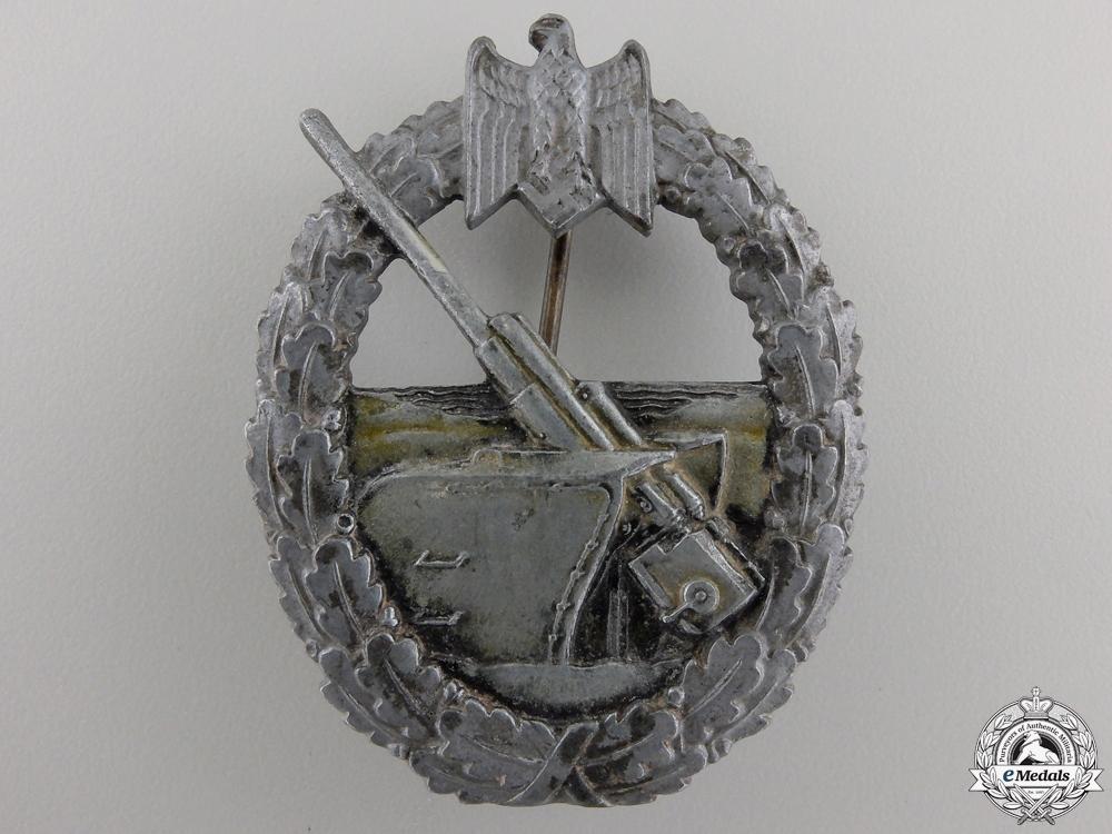 eMedals-A Kriegsmarine Naval Artillery Badge