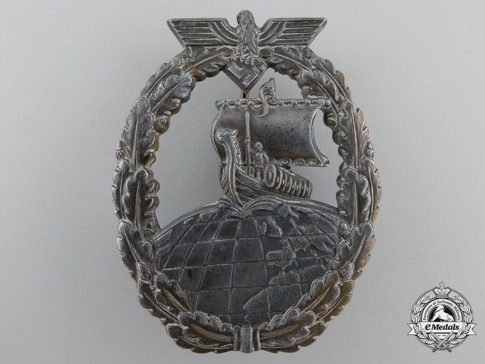 eMedals-A Kriegsmarine Naval Auxiliary Cruiser Badge by Friedrich Orth