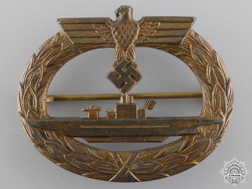 eMedals-A Kriegsmarine Submarine War Badge by Friedrich Orth