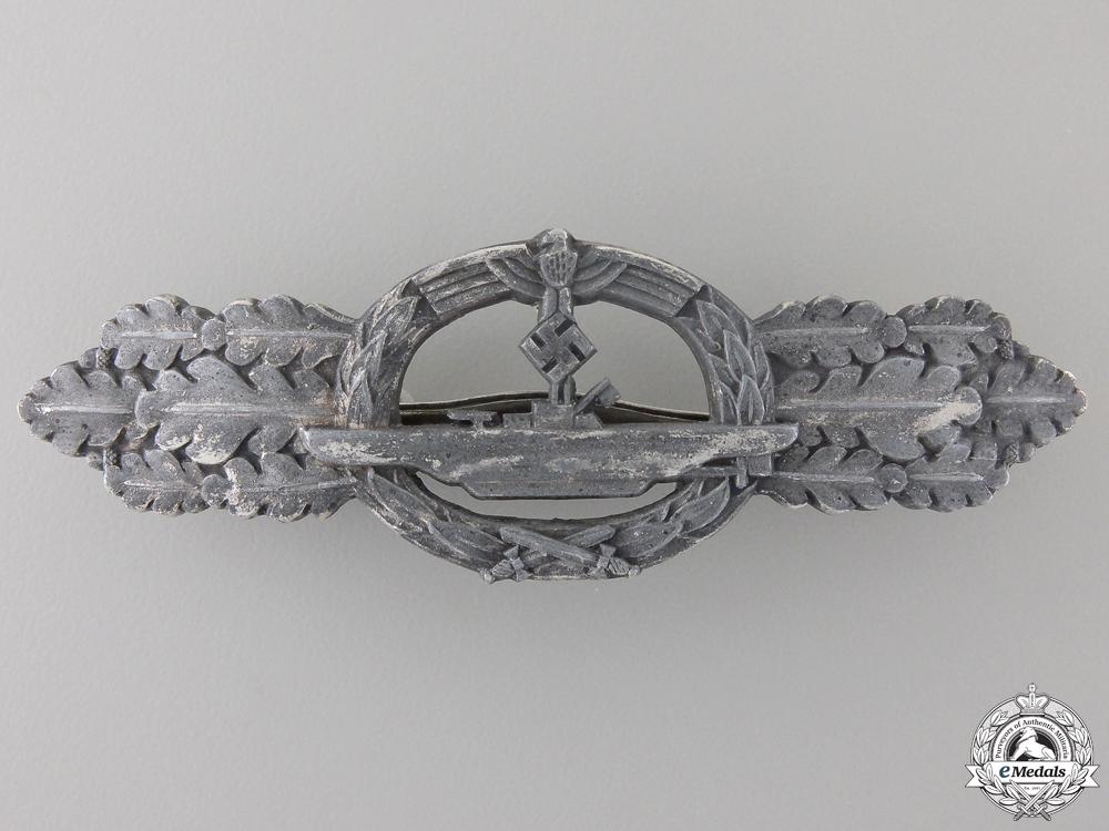 eMedals-A Kriegsmarine Submarine Clasp; Silver Grade by Schwerin