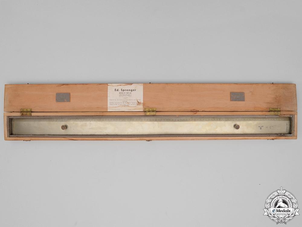 eMedals-A Kriegsmarine Steel Metre Rule by Ed.Sprenger