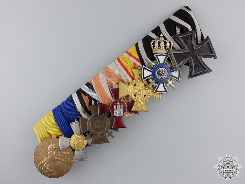 eMedals-A Landwehr-Officers-Frack Medal Bar of Seven Awards