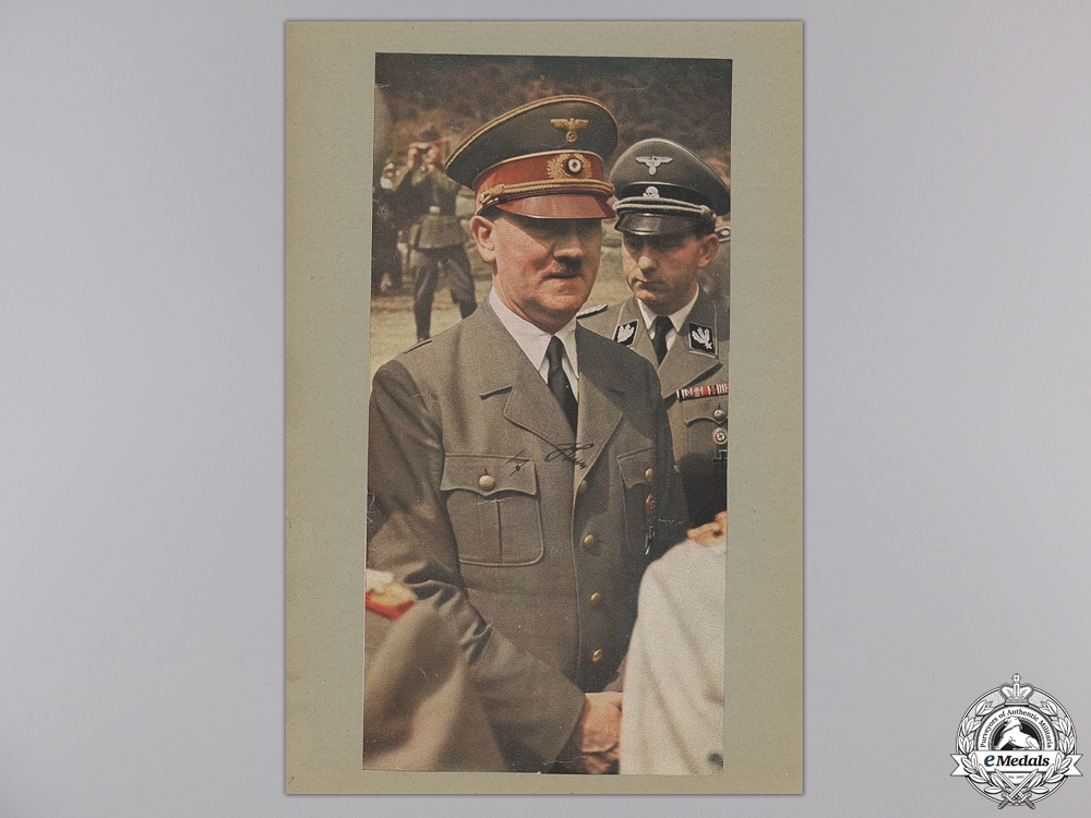 eMedals-A Large & Autographed Colour Photograph of AH