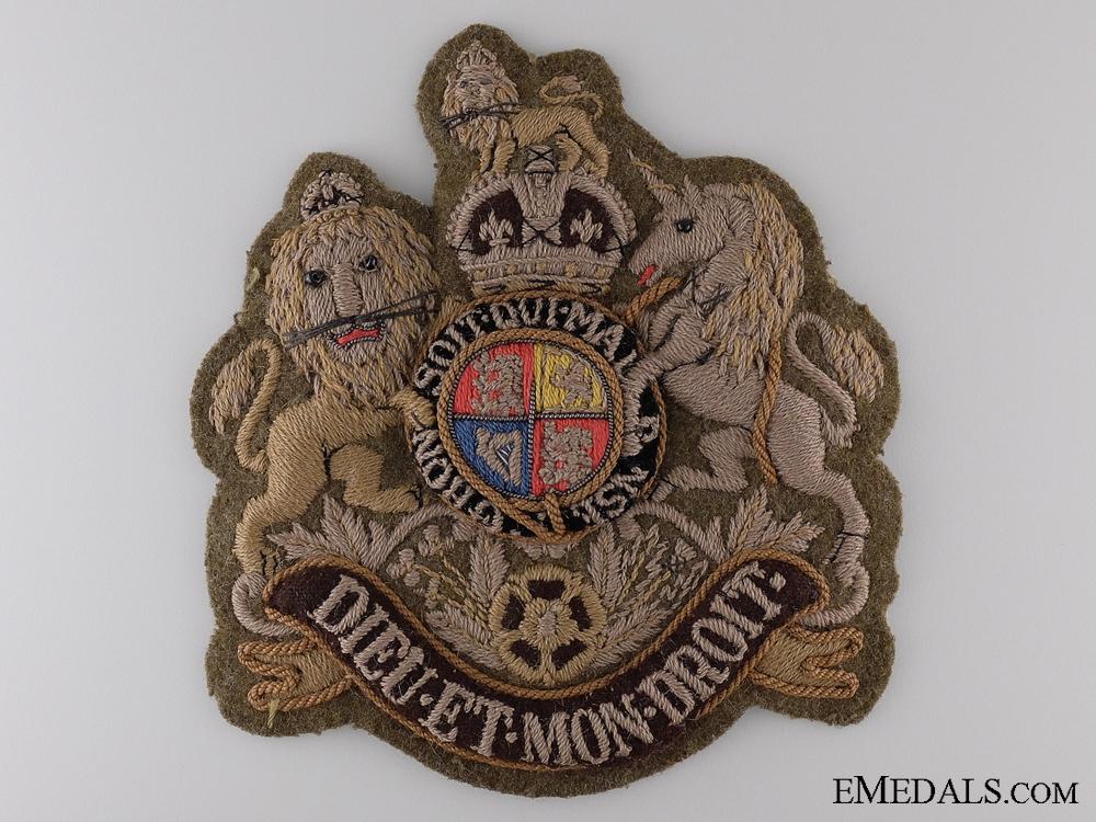 eMedals-A Large British WWII Regimental Sergeant Major's Badge