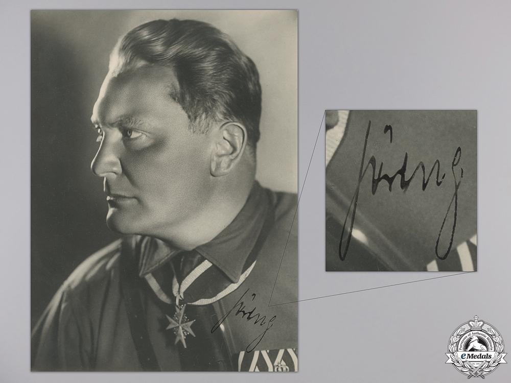 eMedals-A Large Hermann Göring Autographed Studio Portrait