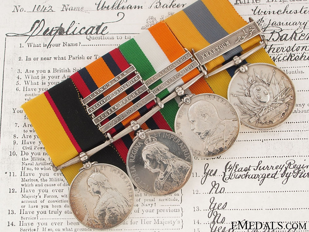 eMedals-A Late Victorian Group of Four to the Rifle Brigade