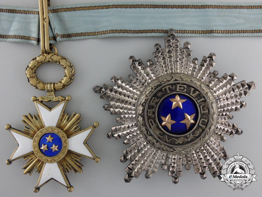 eMedals-A Latvian Order of the Three Stars; Grand Officer by W.F. Müller
