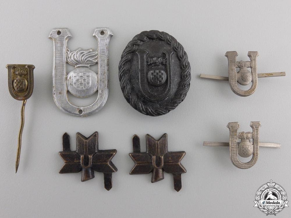 eMedals-A Lot of Second War Croatian Ustasha Insignia