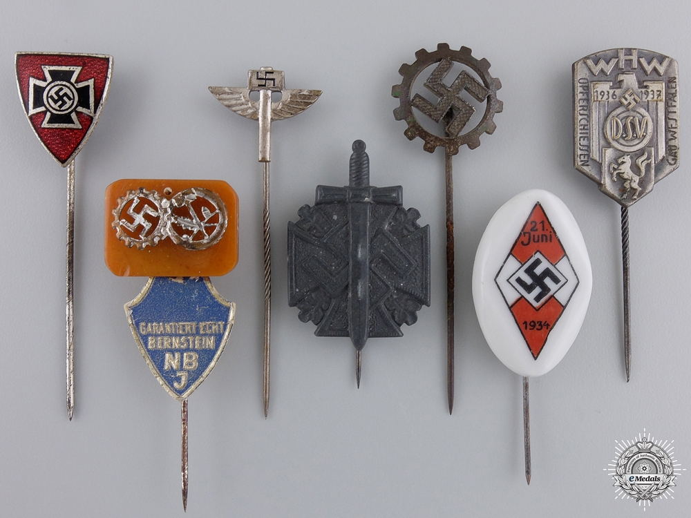 eMedals-A Lot of Seven Third Reich Stickpins
