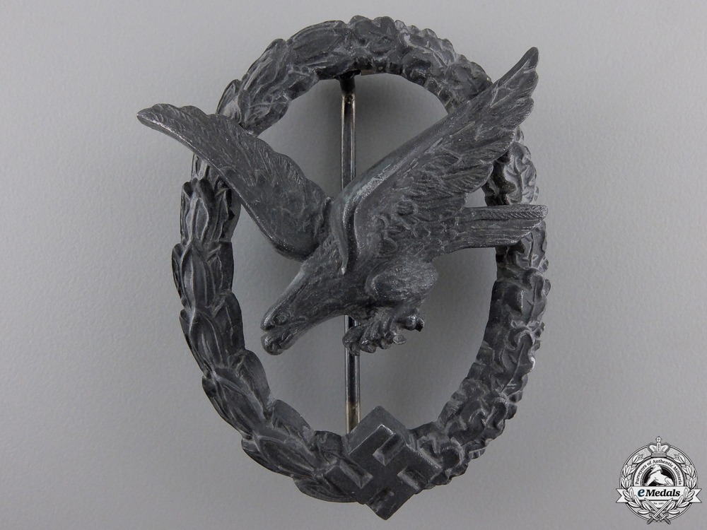 eMedals-A Luftwaffe Air Gunner Badge by W. Deumer