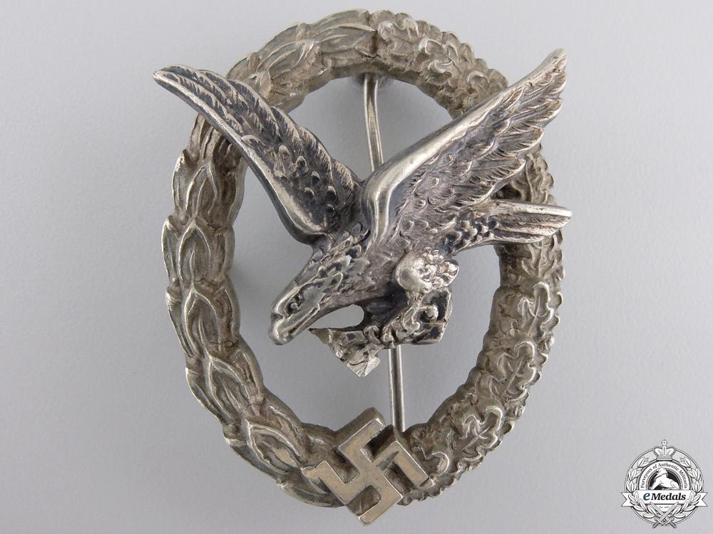 eMedals-A Luftwaffe Air Gunner's & Flight Engineers Badge by Juncker