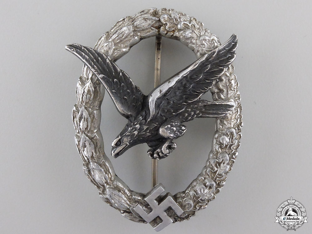 eMedals-A Luftwaffe Air Gunner Badge by C.E.Juncker, Berlin
