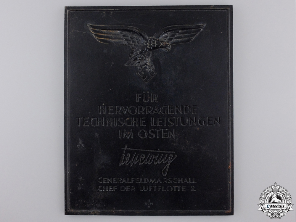 eMedals-A Luftwaffe Award for Outstanding Technical Achievements in the East