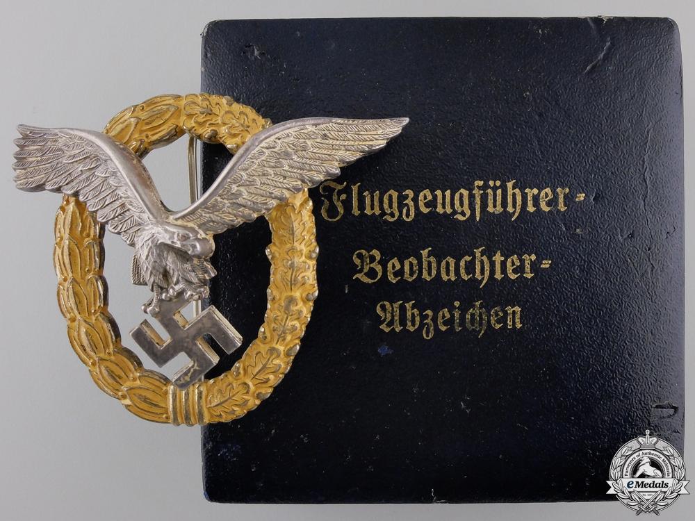 eMedals-A Luftwaffe Combined Pilot's & Observer's Badge by Gebruder Wegerhoff, Ludenscheid