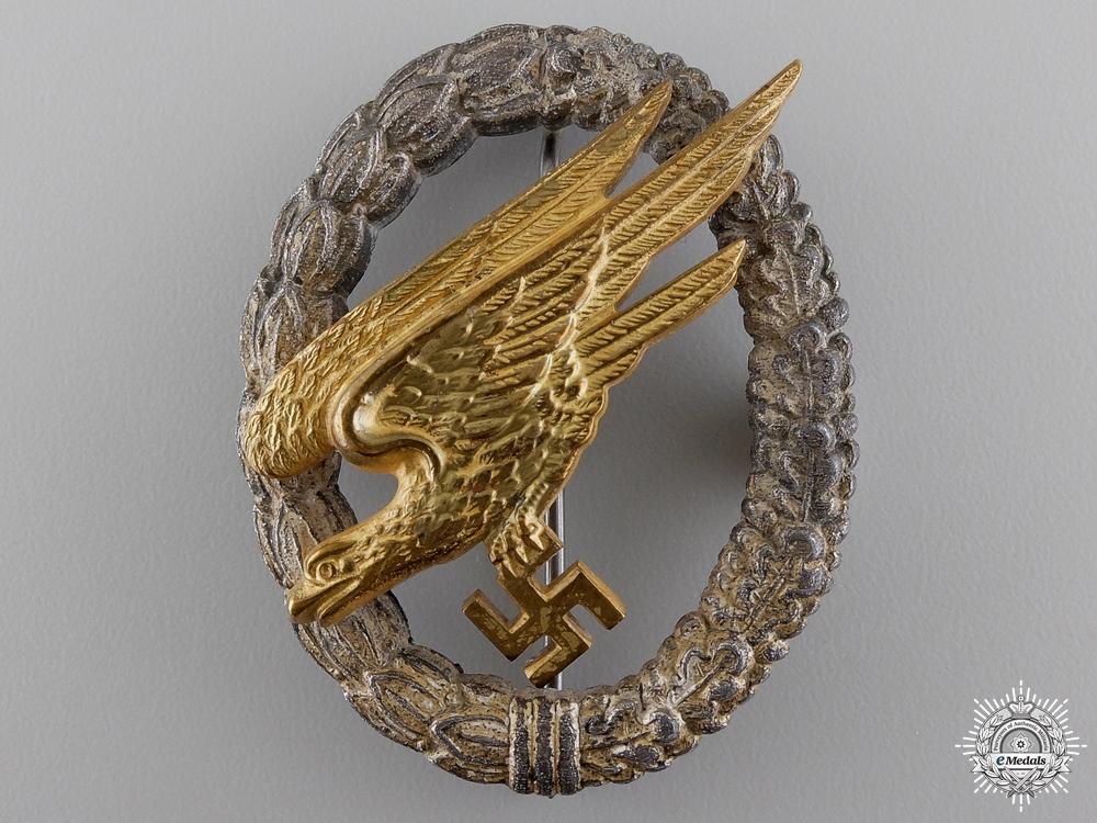 eMedals-A Luftwaffe Fallschirmjäger Badge by Gebrder Wegerhof, Ldenscheid