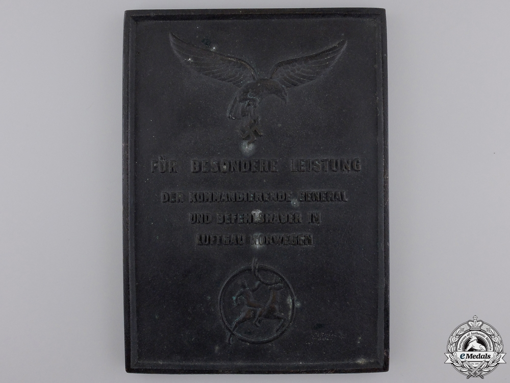 eMedals-A Luftwaffe Honour Plaque for Special Performance in Norway