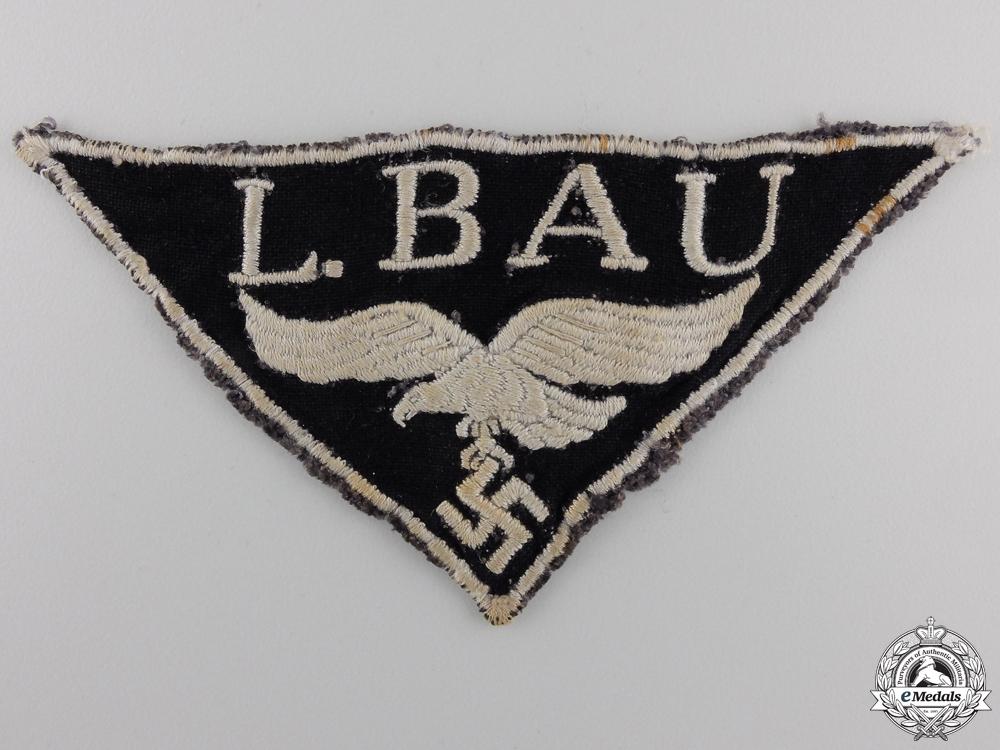 eMedals-A Luftwaffe L. BAU Cloth Insignia (Luftwaffe construction unit)
