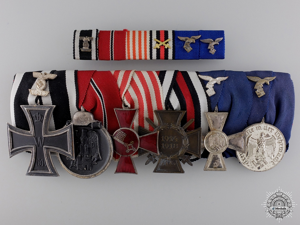 eMedals-A Luftwaffe Long Service Medal Bar with Six Awards
