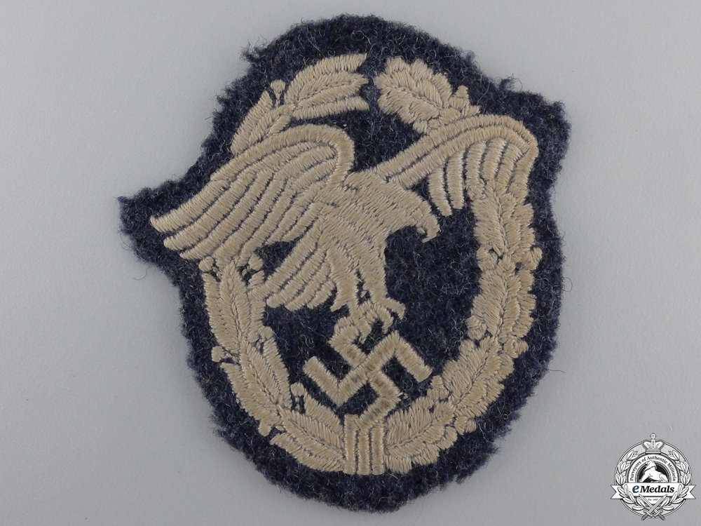 eMedals-A Luftwaffe Observers Badge; Cloth Version