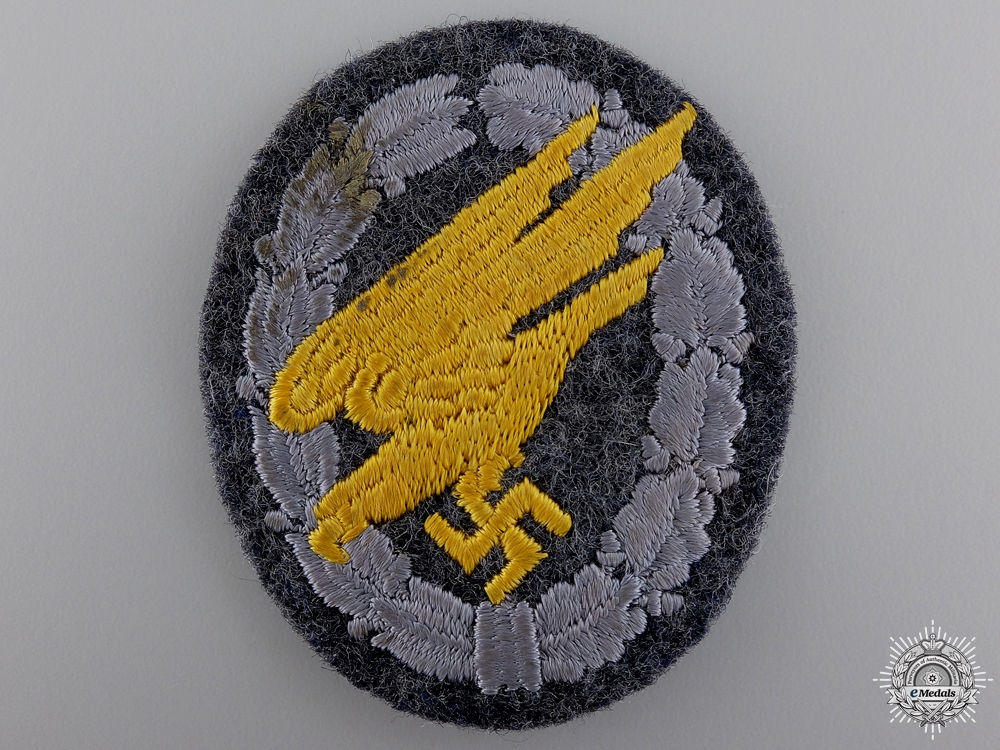 eMedals-A Luftwaffe Paratrooper's Badge; Cloth Version