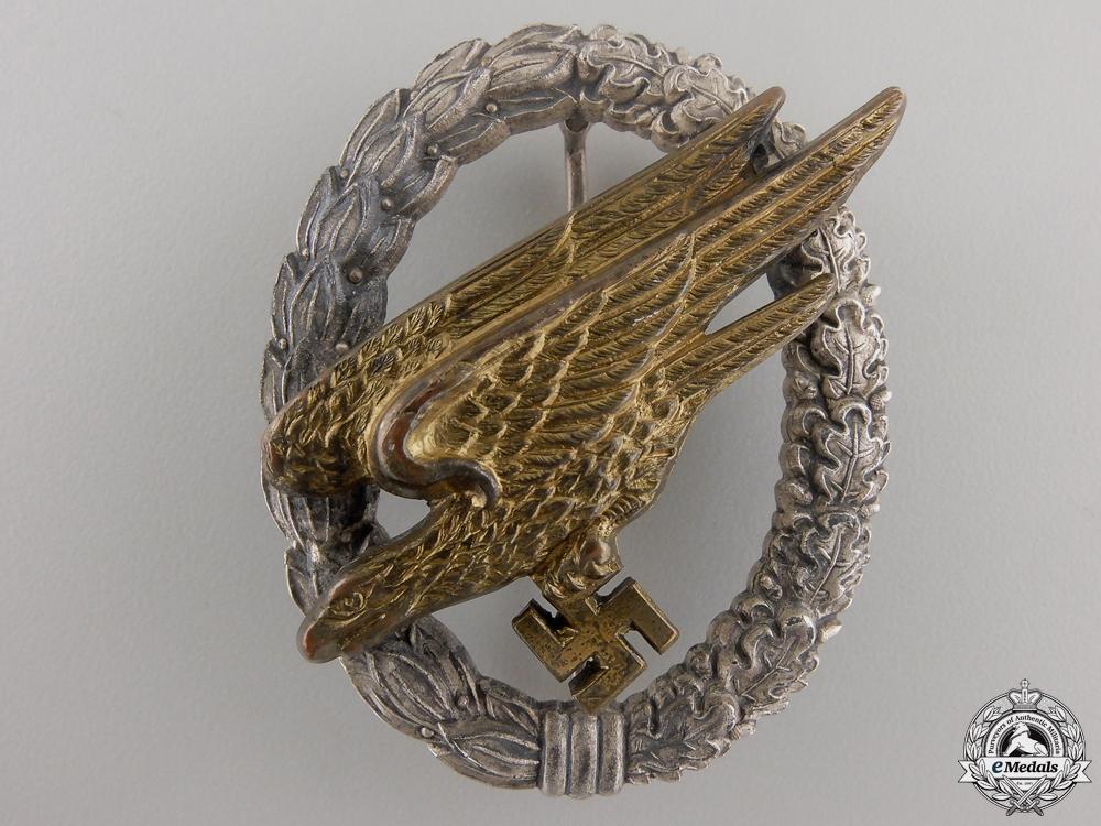 eMedals-A Luftwaffe Paratrooper Badge by Steinhauer & Lück