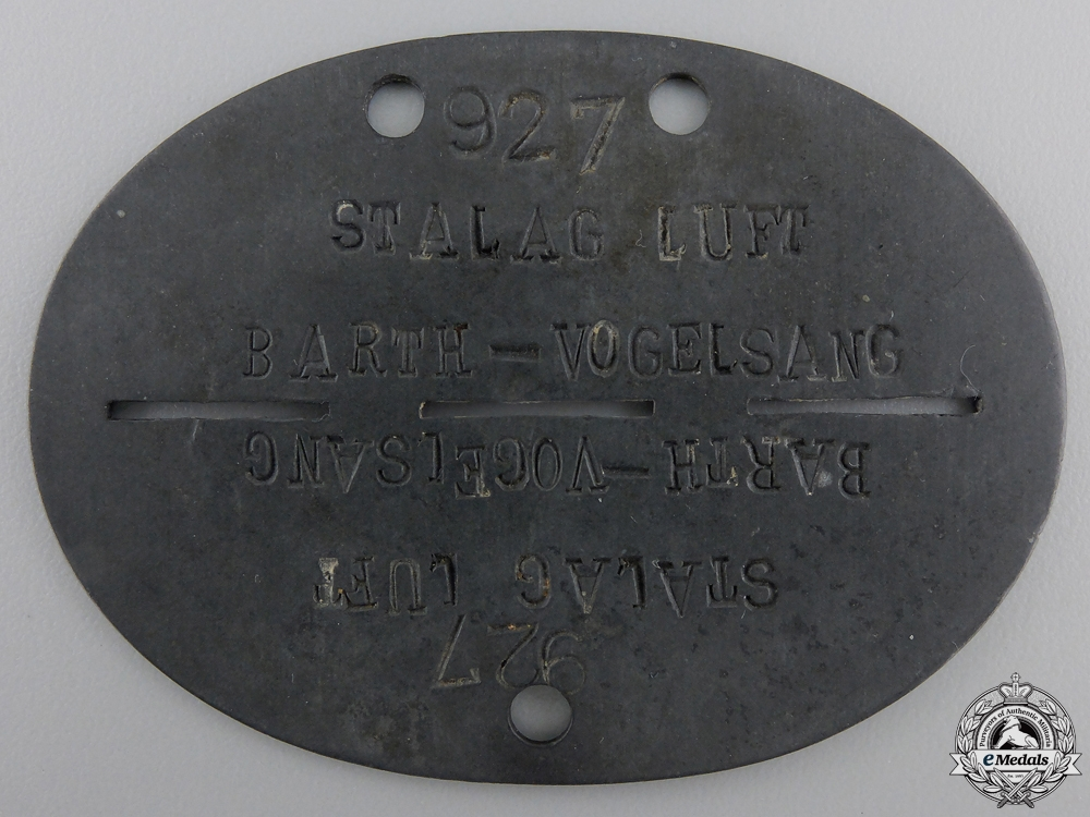 eMedals-A Luftwaffe Stalag Guard's ID Disc