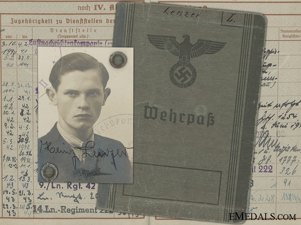 eMedals-A Luftwaffe Wehrpass to Croatian & Hungarian Award Recipient