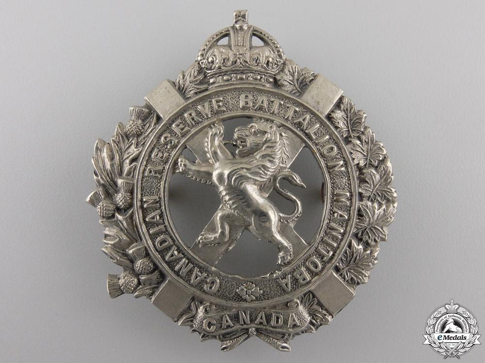 eMedals-A Manitoba Canadian Reserve Battalion Cap Badge